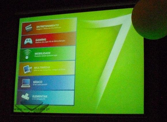 Lista das 6 Categorias