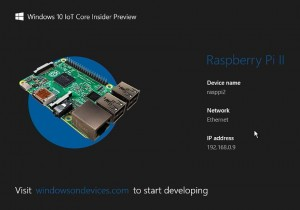 Microsoft disponibiliza o Windows 10 IoT Core Preview Build 17093