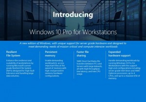 Microsoft anuncia o Windows 10 Pro for Workstations