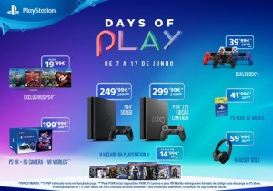 PlayStation® anuncia descontos de Days of Play