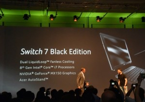 Acer anuncia Swift 5, Spin 5 e Switch 7 Black Edition na IFA 2017