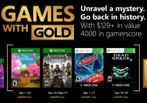 "Ofertas do ""Games With Gold"" de abril são revelados"